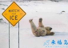 小心滑倒!