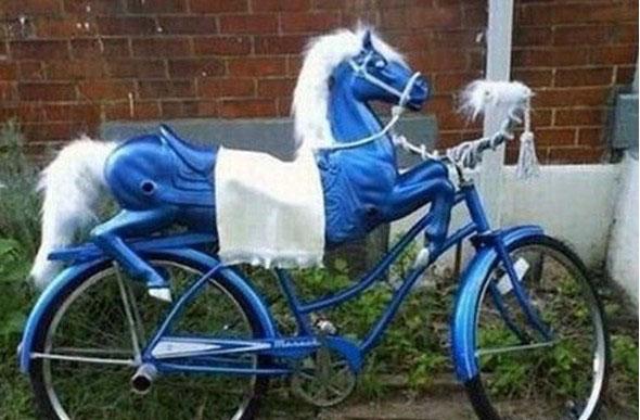 宝马自行车_搞笑交通