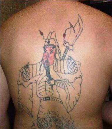 这关公纹身还真的栩栩如生