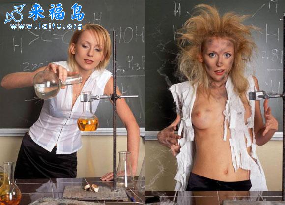 美女化学老师在演示试验时发生的悲剧